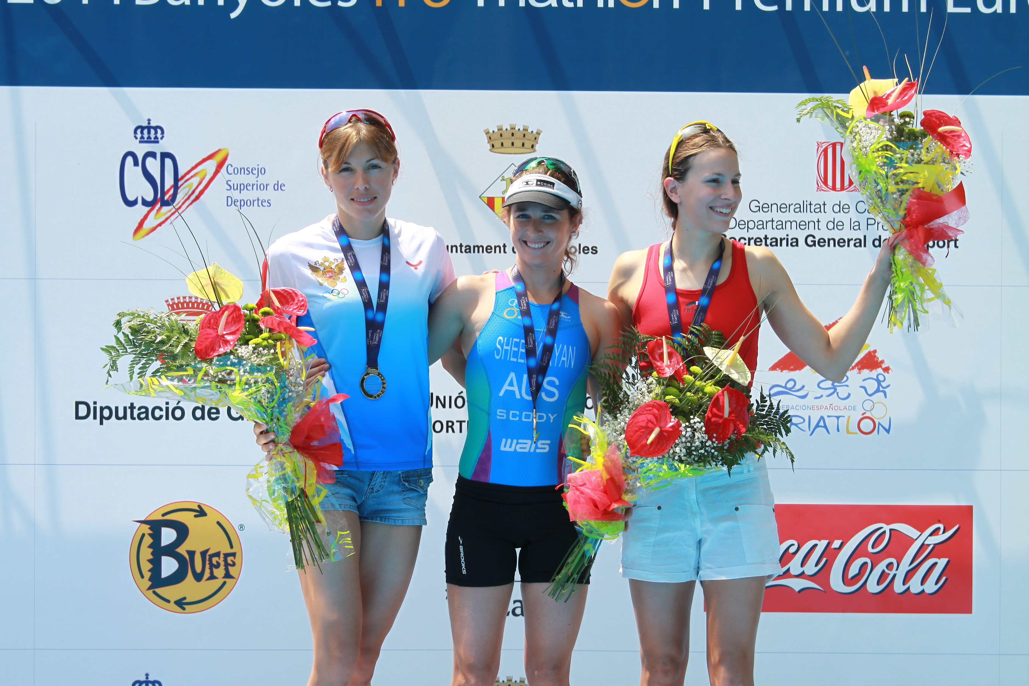 THE AUSTRALIAN SHEEDY-RYAN WINS THE WOMEN THRIATHLON EUROPEAN CUP IN FRONT OF ABYSOVA AND RADKA VODICKOVA