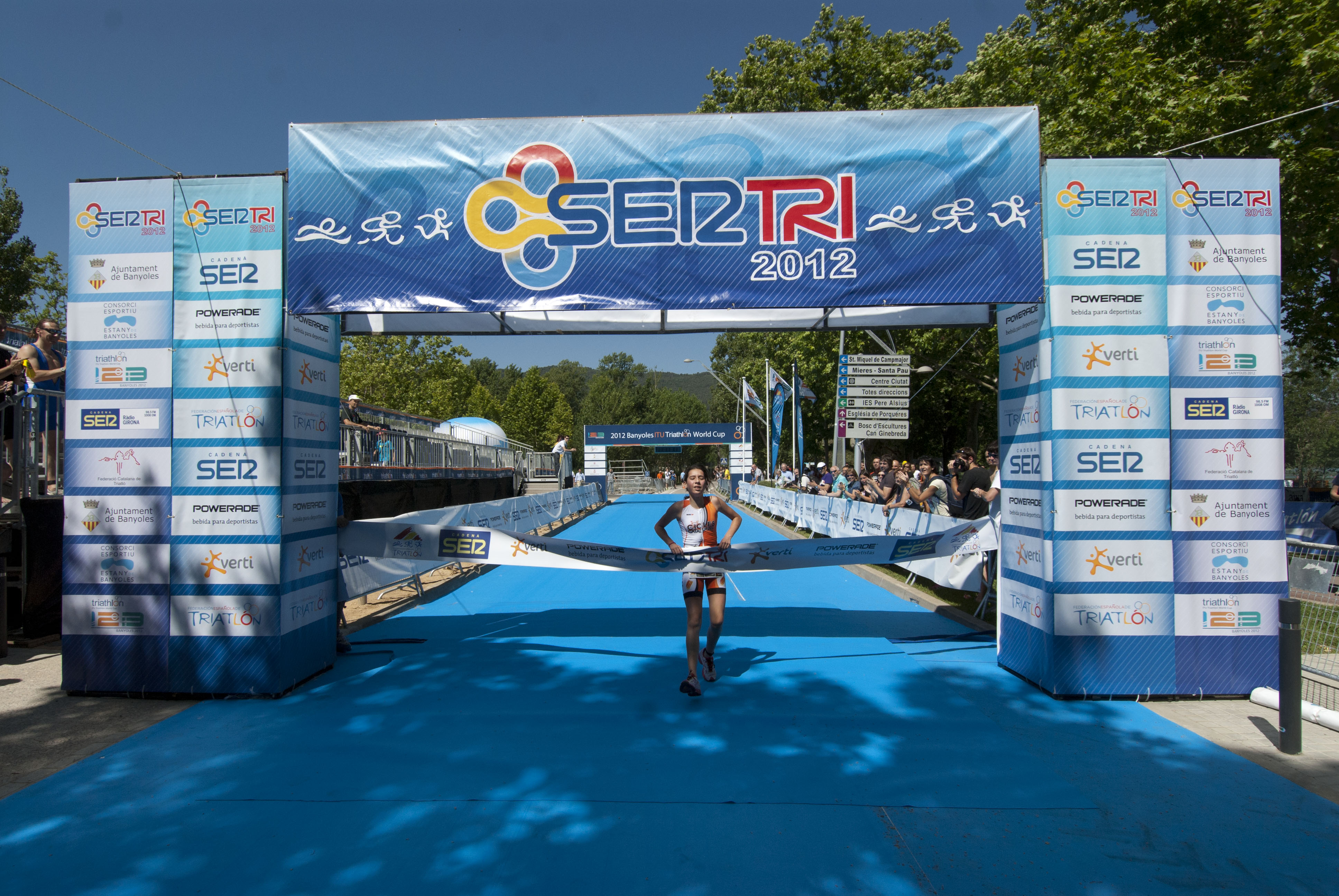 "Banyoles holds the ""SERTRI"" competitions, a popular thriatlon series open to everyone"